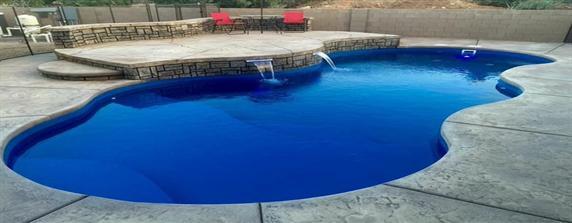 Extra Large Small Fiberglass Pools San Juan Pools Sturgeon Stone And Landscape Bloomington In